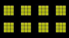los angeles USA Maj 01 2018 Transformacja Rubik sześcian z animacją i obracaniem animuj?cy zbiory