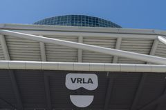 VRLA event entrance on display Royalty Free Stock Photo