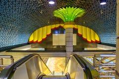 Los Angeles, USA, 2016:02:24 metro line Hollywood Los Angeles. Royalty Free Stock Image
