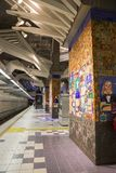 Los Angeles, USA, 2016:02:25 metro Station, Universal City. Stock Photos
