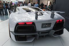 Aria FXE on display during LA Auto Show Royalty Free Stock Photo
