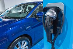 Chargepoint EV Charger on display during LA Auto Show Royalty Free Stock Images