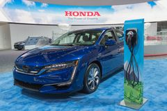 Chargepoint EV Charger on display during LA Auto Show Royalty Free Stock Photos