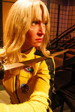 Uma Thurman as the Bride from Kill Bill in Madame Tussauds Hollywood Royalty Free Stock Images