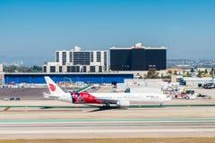 Los Angeles International Airport (LAX). LOS ANGELES, USA - SEP 26, 2015: Air China aircraft at the Los Angeles International Airport (LAX) , the primary airport Stock Photography