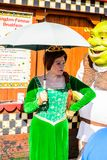 Universal Studios Hollywood Park, Los Angeles, USA. LOS ANGELES, USA - SEP 27, 2015: Fiona in Shrek area in the Universal Studios Hollywood Park. Shrek is a 2001 Royalty Free Stock Photo