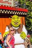 Universal Studios Hollywood Park, Los Angeles, USA. LOS ANGELES, USA - SEP 27, 2015: Shrek in  the Shrek area in the Universal Studios Hollywood Park. Shrek is a Royalty Free Stock Photography