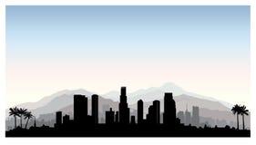 Los Angeles, USA skyline. City silhouette with skyscraper building Stock Photo