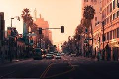 LOS ANGELES, usa - 31st 2018 Październik: Hollywood przy zmierzchem zdjęcie royalty free