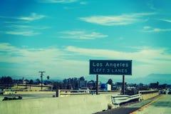 Los Angeles utgångsvägmärke Arkivfoton