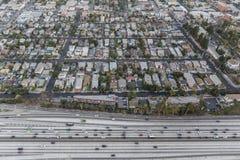 Los Angeles västra Adams områdesantenn Fotografering för Bildbyråer