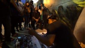 Los Angeles van de binnenstad Art Walk stock footage
