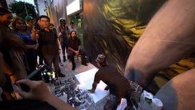 Los Angeles van de binnenstad Art Walk stock videobeelden