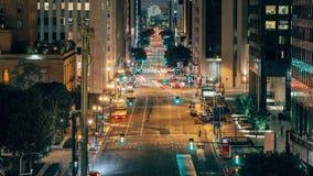 Los Angeles van de binnenstad van Skybridge stock video