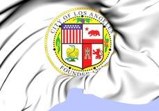 Los Angeles vapensköld, USA stock illustrationer