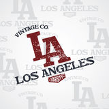 Los angeles varsity theme Stock Photo
