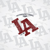 Los angeles varsity theme Stock Image