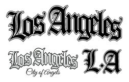 Los Angeles. Vector illustration of Los Angeles and L.A in vintage gangsta style Royalty Free Stock Photography