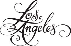 Los Angeles. Vector version of my own calligraphy Stock Photo