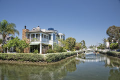 Los angeles venice canals Royalty Free Stock Image