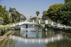 Los angeles venice canals Royalty Free Stock Photography