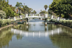 Los angeles venice canals Royalty Free Stock Images