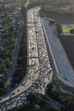 Los Angeles Ventura Freeway Vertical Aerial Royalty Free Stock Image