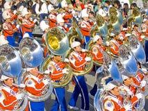 Los Angeles Verenigde het Marcheren van de School Band Stock Foto's