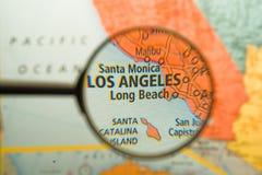 Los Angeles vergrößerte stockfotografie