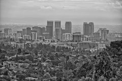 Los angeles view from getty center Stock Photography