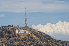 Los angeles view from mulholland drive Stock Images
