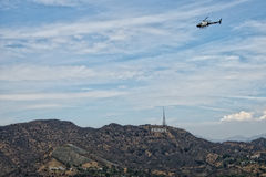 Los angeles view from mulholland drive Royalty Free Stock Image