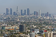 Los angeles view from mulholland drive Royalty Free Stock Images