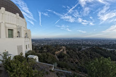 Los angeles view from observatory Royalty Free Stock Photos