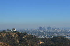 Los Angeles view over city Stock Images
