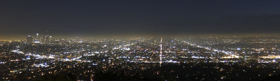 Los Angeles by night Stock Image