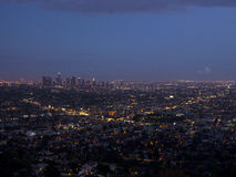 Los angeles view on sunset, California, USA Royalty Free Stock Image