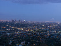 Los angeles view on sunset, California, USA Royalty Free Stock Photo