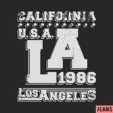 Los Angeles vintage stamp. T-shirt print design. Los Angeles vintage stamp. Printing and badge applique label t-shirts, jeans, casual wear. Vector illustration Stock Image
