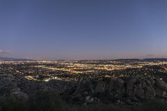 Los Angeles West Valley Dusk Stock Image