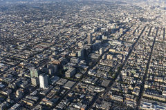 Los Angeles Wilshire Blvd and Koretown Aerial View Royalty Free Stock Photo