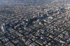 Los Angeles Wilshire Blvd och Koretown område arkivfoto
