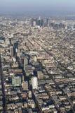 Los Angeles Wilshire Blvdantenn royaltyfri foto