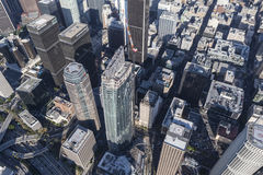 Los Angeles Wilshire Grand Center Aerial Stock Images