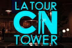 Los Angeles wycieczki turysycznej CN wierza znak, Toronto Zdjęcia Stock