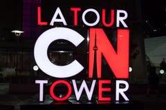 Los Angeles wycieczki turysycznej CN wierza znak, Toronto Obrazy Royalty Free