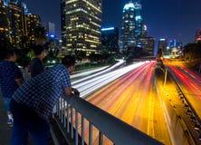 Los- Angelesbrücke Stockfotos