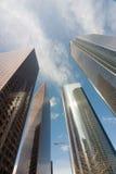 Los- Angelesim stadtzentrum gelegene Gebäude vertikal Stockfotografie
