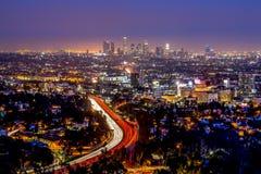 Los- Angelesim stadtzentrum gelegene Skyline Lizenzfreie Stockfotografie