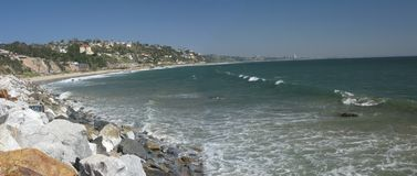 Los- Angelesküstendatenbahn Stockfoto